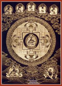 Плакат Мандала Белой Тары (30 x 40 см).
