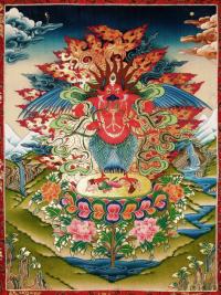 Плакат Красный Гаруда (30 x 40 см).