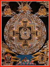 Плакат Мандала Амитаюса (30 x 40 см).