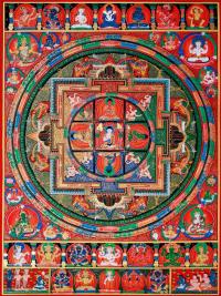 Плакат Мандала божеств (30 x 40 см).