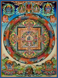 Плакат Мандала Будды Медицины (30 x 40 см).