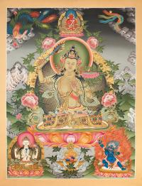Тханка Манджушри (41,5 x 55,5 см).