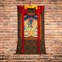 Тханка Будда Медицины (96 x 134 см).
