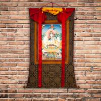 Тханка Белая Тара (96 x 134 см).