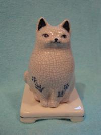 Керамическая подставка для благовоний Кошка.