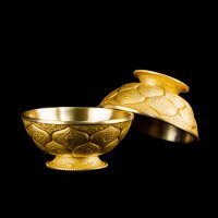 Чаши для подношений (набор из 7 шт.), 8 см, золотистые, металл, Китай.