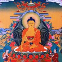 Открытка Будда Шакьямуни (13 x 13 см).