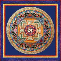Открытка Мандала с тибетским ОМ (13 x 13 см).