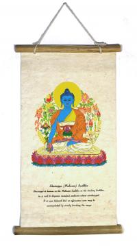 Свиток из рисовой бумаги с Буддой Медицины.