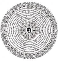 Открытка Мандала с мантрой Намгьялмы (белая) 13 x 13 см.