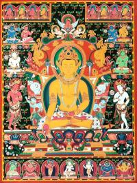 Плакат Тханка Будда Ратнасамбхава (30 х 40 см).