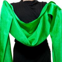 Хадак шелковый зеленый, 56 х 290 см.
