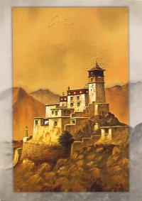 Купить Открытка Монастырь, 12 х 17 см, с конвертом в интернет-магазине Dharma.ru