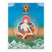 Купить Тханка печатная на холсте Самантабхадра и Гараб Дорже (32,5 х 42) в интернет-магазине Dharma.ru