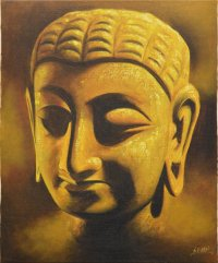 "Картина ""Лик Будды"" (желтая) 51 x 61 x 2 см."