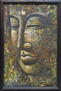 """Картина в рамке """"Будда"""" (55 x 81 x 2 см)."""