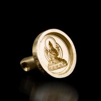 Купить Форма для изготовления ца-ца Лама Цонкапа (круглая, 3,7 см) в интернет-магазине Dharma.ru