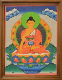 """Картина в рамке """"Будда Шакьямуни"""" (34 x 43 x 1 см)."""