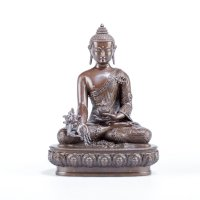 Купить Статуэтка Будды Медицины, 17 см (уценка) в интернет-магазине Dharma.ru