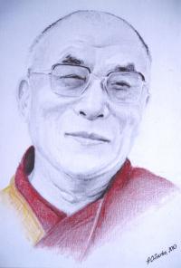 Открытка Далай-лама XIV (№3) (10 х 15 см).