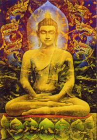 """Магнит """"Будда"""" (№5) (5 x 7,5 см)."""