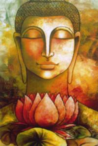 """Магнит """"Будда"""" (№7) (5 x 7,5 см)."""