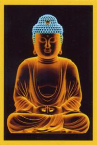 """Магнит """"Будда"""" (№8) (5 x 7,5 см)."""
