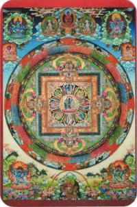 "Наклейка ""Мандала Будды Медицины"" (5 x 7,5 см)."