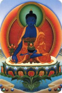 """Наклейка """"Будда Медицины"""" (№2) (5 x 7,5 см)."""