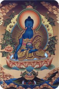 """Наклейка """"Будда Медицины"""" (№3) (5 x 7,5 см)."""