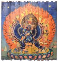 Изображение на досках Ямантака (57 x 60 x 4 см).