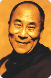 """Наклейка """"Далай-лама XIV"""" (№3) (5 x 7,5 см)."""