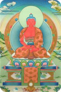 Купить Наклейка Амитабха (№1) (5 x 7,5 см) в интернет-магазине Dharma.ru
