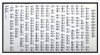 Панно с Сутрой сердца на корейском и китайском, 31 х 60 см.
