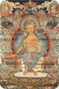 """Наклейка """"Будда Майтрейя"""" (5 x 7,5 см)."""