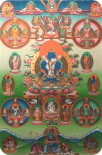 "Наклейка ""Будда Акшобхья"" (5 x 7,5 см)."