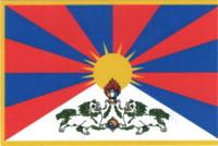 Купить Наклейка Тибетский флаг (5 x 7,5 см) в интернет-магазине Dharma.ru