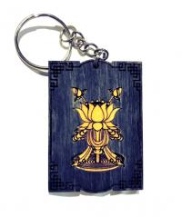 Купить Брелок с символом Цветок лотоса (синий) в интернет-магазине Dharma.ru