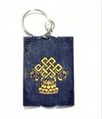 Купить Брелок с символом Бесконечный узел (синий) в интернет-магазине Dharma.ru
