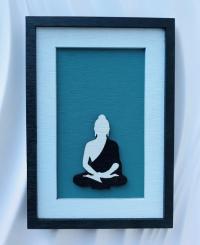 """Декоративное панно """"Будда"""" малое (11,5 х 16,5 см)."""