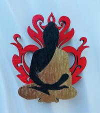 """Магнит """"Будда в ореоле пламени""""."""