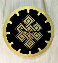 """Часы """"Бесконечный узел"""" (черные, диаметр 30 см)."""
