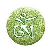 """Значок """"Тибетский Ом"""" (зеленый, 5,5 см)."""
