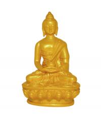 Купить Статуэтка Будды Амитабхи, золотистая, композит, 11,5 см в интернет-магазине Dharma.ru