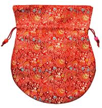 Купить Мешочек для четок красный, 16,5 x 19,5 см в интернет-магазине Dharma.ru