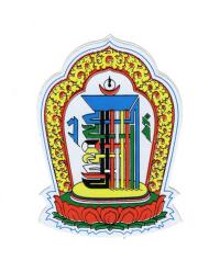 Купить Наклейка Мантра Калачакры (5,2 x 7,2 см) в интернет-магазине Dharma.ru