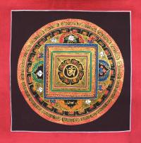 Картина Мандала с тибетским ОМ (25,5 х 25,8 см).