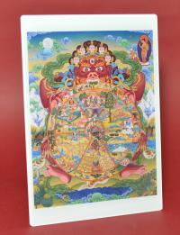 Купить Изображение Колесо сансары (оргстекло, белые поля, 10,5 x 15 см) в интернет-магазине Dharma.ru