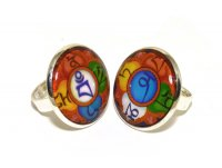 Купить Комплект из 2-х колец (цвет под серебро) в интернет-магазине Dharma.ru