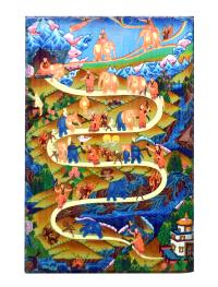 Изображение на доске Этапы шаматхи (19,5 x 29,5 x 2 см).